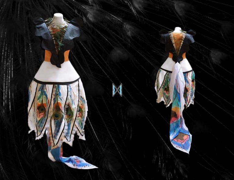 mendrilla kamadhenu dress pattern based on a yantra