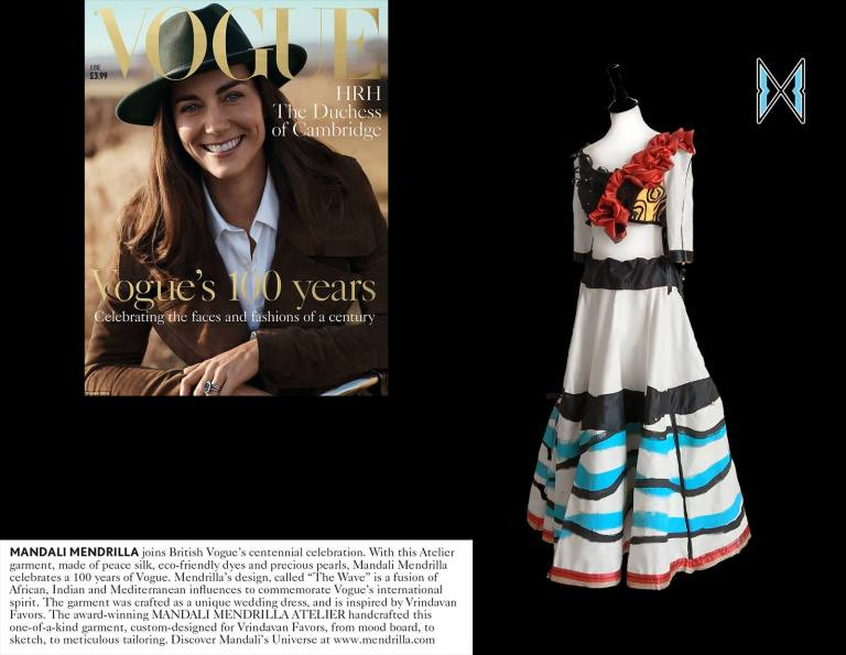 the wave mendrilla in vogue 100 years anniversary